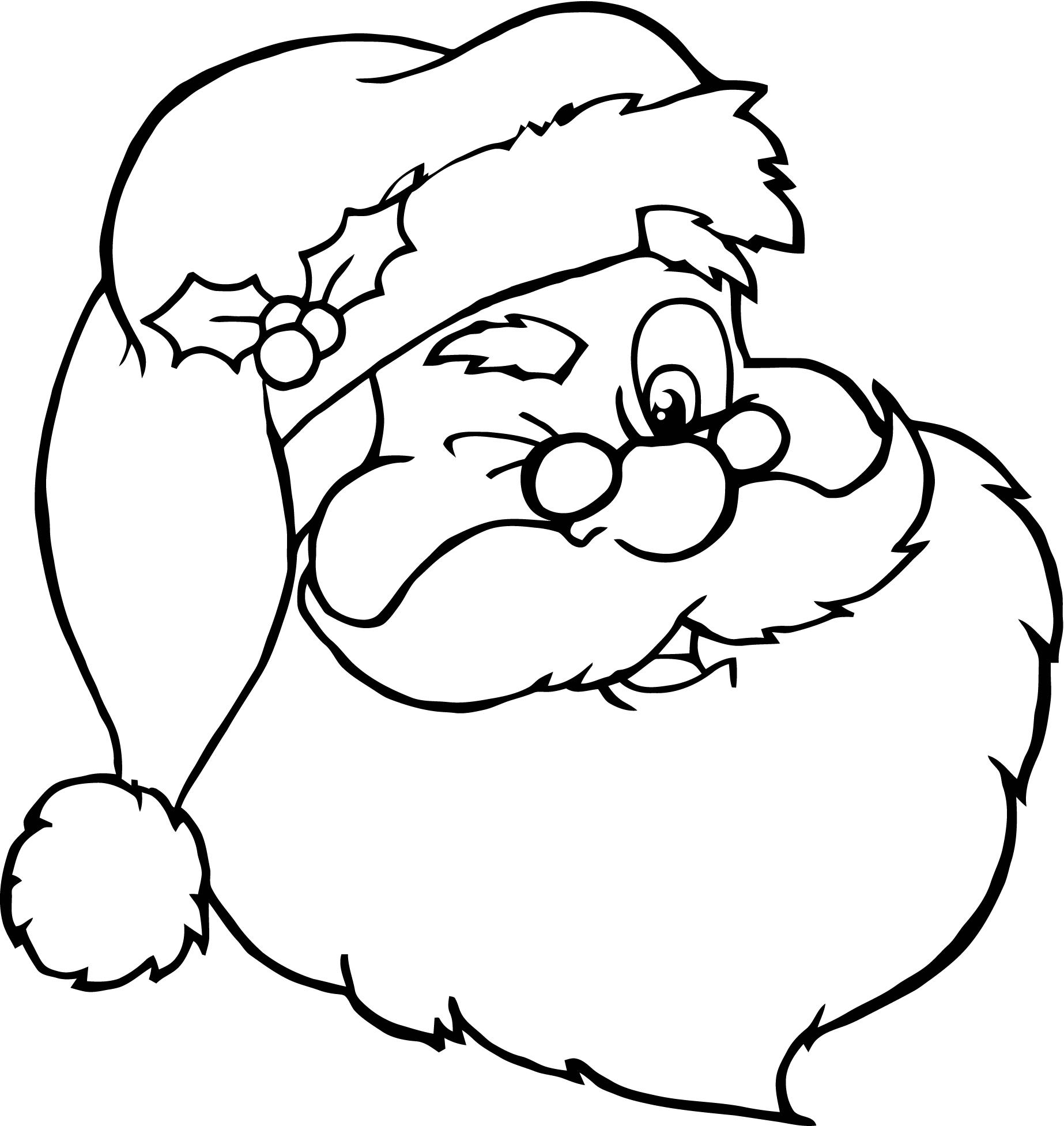 Santa Claus Head Coloring Pages Santa clause came to my town